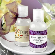 Personalized Wedding Hand Sanitizer Favors (Designing Ducks 1187000) | Buy at Wedding Favors Unlimited (http://www.weddingfavorsunlimited.com/personalized_wedding_hand_sanitizer_favors.html).