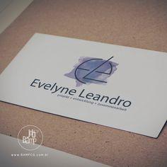 Identidade Visual desenvolvida para Evelyne Leandro, do Brasil, diretamente para Alemanhã.  www.bampcg.com.br #BampCG #Brand #Art #Marketing and #People