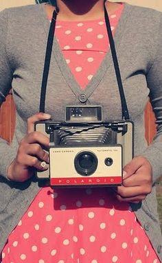 {smile!} pink polka dots + a Polaroid :)