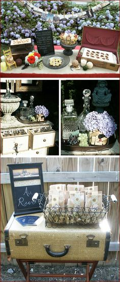 I like the suitcase.  Another wedding idea,
