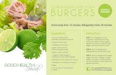 Coriander Lime Tuna Burger
