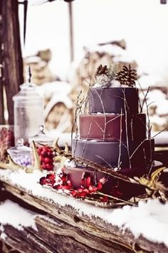 bc9cf41f0f50bb6760302edd697a7e5a  christmas wedding cakes winter wedding cakes - Ready for Winter Events? -- Here Are Some of the Best Ideas Online!