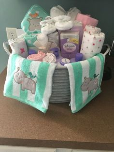 Laundry basket baby shower gift | Baby shower gifts, Shower gifts ...