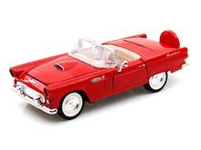 Motor Max 1/24 Scale 1956 Ford Thunderbird T-Bird Convertible Red Diecast Car Model 73215 www.DiecastAutoWorld.com 2312 W. Magnolia Blvd., Burbank, CA 91506 818-355-5744 AUTOart Bburago Movie Cars First Gear GMP ACME Greenlight Collectibles Highway 61 Die-Cast Jada Toys Kyosho M2 Machines Maisto Mattel Hot Wheels Minichamps Motor City Classics Motor Max Motorcycles New Ray Norev Norscot Planes Helicopters Police and Fire Semi Trucks Shelby Collectibles Sun Star Welly