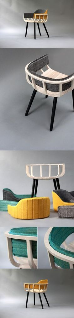 You probably re-upholster your #furniture every other year. Change the cushions probably once every six months. The Frame #chair doesn't want you to be so neophobic. It's made with upholstery that can be #switched with the flick of your wrist. Just pull off the old stuff and put in the new. The colorful upholstery attaches to the chair via #magnets, giving your seating device a lot of variety and swag! #Yankodesign #Home #Interior