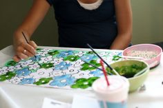 eighteen25: summer craft ideas (part five)- painting with corn syrup paint