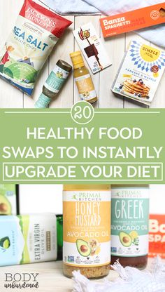 These healthy food swaps are as delicious as they are good for you! Plus, they're a simple way to instantly upgrade your diet. The list includes both pantry essentials and treats :) All paleo and gluten-free foods! via @bodyunburdened