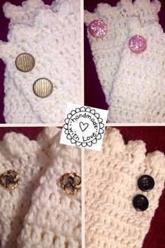 Handmade Boot cuffs with your choice of matching buttons $15 a pair