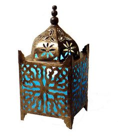 Table Lamp Fabric Moroccan Style Turquoise Fair Trade Includes Light Bulb in Home, Furniture & DIY, Home Decor, Other Home Decor | eBay