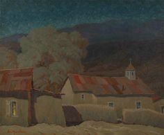 carl von hassler | ... Carl Von Hassler | Original Painting of Moonlight on Seboeyta Mission