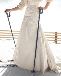 Ready to Ski #wedding #winter #inspiration #details #ski