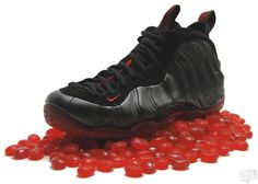 """Nike Air Foamposite One """"Cough Drops""""...there's just something about these that doesn't let you take your eyes off them...one of our favs www.soletron.com"""
