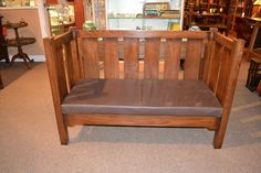 Arts and Crafts Mission Oak Sofa / Mission Love by OakParkAntiques, $825.00