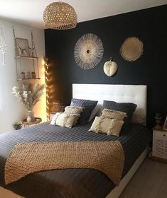 Bedroom Ideas For Small Rooms Women, Room Ideas Bedroom, Small Room Bedroom, Home Decor Bedroom, Trendy Bedroom, Bedroom Designs, Bedroom Wall, Master Bedroom, Home Decor Ideas