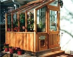 cedar greenhouse - lean to - attach to our old milk house?