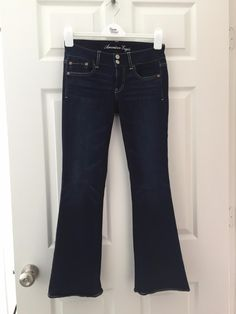 For Sale: GREAT JEANS FROM AMERICAN OUTFITTERS! - Dark Blue color. In top condition. Dark blue. Size 0-2