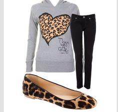 Cute leopard outfit
