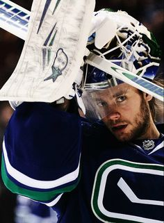 """""""Eddie Läck (born 5Jan88) is a Swedish professional ice hockey goaltender who plays for the Vancouver Canucks of the National Hockey League (NHL). Läck has previously played professionally in Sweden for Leksands IF of the HockeyAllsvenskan and Brynäs IF of the Elitserien. After going unselected in the 2009 NHL Entry Draft, he signed as a free agent with the Vancouver Canucks in 2010."""" ... wish he'd played tonight...! (Canucks @ Toronto, 5-2 {Leafs}, 12/6/14) :-("""