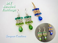 Fast & Easy Beaded Earrings || How to make Beaded Earrings || Simple Pattern - YouTube Simple Earrings, Beautiful Earrings, Beaded Earrings, Make Your Own Jewelry, Jewelry Making, Simple Pattern, Beaded Jewelry Patterns, Earring Tutorial, Beading Projects