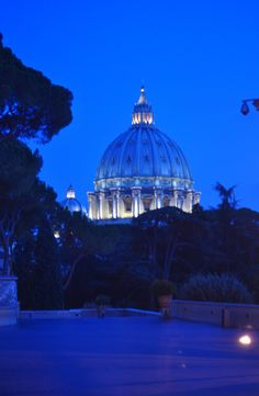 In Rome, at night.