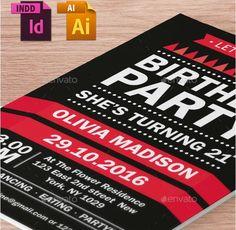25 premium birthday party invitation templates psd indesign word