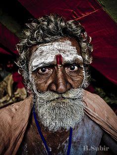 Indian mans face