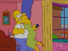 Marge kissing Homer