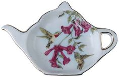 Hummingbird tea bag caddy