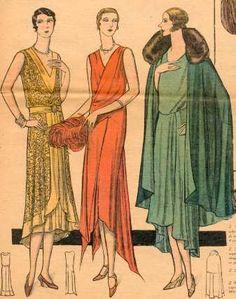 1929. Les garçonnes en robes du soir