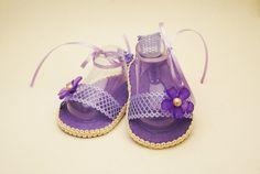 Lilac trellis  baby girl open toe sandal 0-3 months on Etsy, $14.99