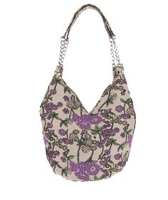 "Bohemian Shoulder Bag Womens Printing Handbag Beaded Floral Cotton Evening Bag -Pulama (Purple). Material: Flower print linen, beads decorate flower pattern. Handmade style, easy to match any type of clothes, never out of style. Magnetic snap button closure gives 3 pockets for you to organize your essentions, like eye shadows, iphone 6, small books and so on. Fashion clutch most occasion like party, wedding and dating, and beach. Size info: (L)13.6""*(H)21.6""including the handle…"
