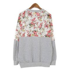 Casual Floral Lace T-shirt Crewneck Blouse Tops Long Sleeves Hoody Pullover at Amazon Women's Clothing store: Fashion Hoodies