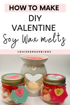 Diy Candles Scented, Fragrant Candles, Valentines Day Dinner, Diy Valentine, Holiday Fun, Holiday Ideas, Christmas Jar Gifts, Diy Candles With Flowers, Diy Wax Melts