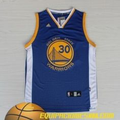 Adidas Camiseta nba baratas Golden State Warriors Curry #30 azul moda nueva pano