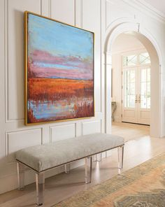 Large Abstract Landscape Oil Painting Canvas by CelineZiangArt