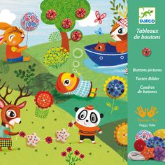 #DIY #Sewing #Buttons by #Djeco naaiset knopen 4 seizoenen: de 4 jaargetijden is een creatieve naaiset met 4 kartonnen afbeeldingen van 20cm x 20cm van de seizoenen van het Franse merk Djeco. from www.kidsdinge.com                             http://instagram.com/kidsdinge          https://www.facebook.com/kidsdinge/ #kidsdinge #onlinestore #Kidsroom #babyroom #Toys #Speelgoed #worldwideshipping
