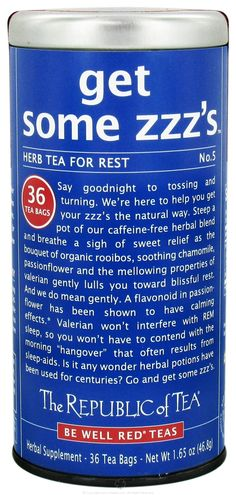"""Get Some ZZZs"" herbal tea"