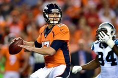 Trevor Siemian Photos Photos - Quarterback Trevor Siemian #13 of the Denver Broncos passes the ball in the third quarter against the Carolina Panthers at Sports Authority Field at Mile High on September 8, 2016 in Denver, Colorado. - Carolina Panthers v Denver Broncos