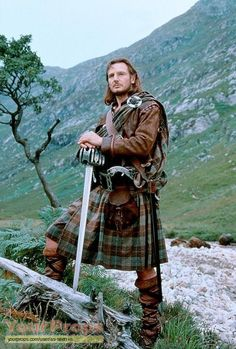 Liam Neeson as Rob Roy in the movie by the same name. He was perfectly cast, along with Jessica Lange and Tim Roth, in this magnificent film based on a true story. - Ronni