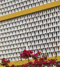 Salvador, Bahia, Brasil. Brazilian modernist example of Cobogó (hollow elements)
