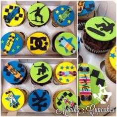Skateboarding cupcakes!