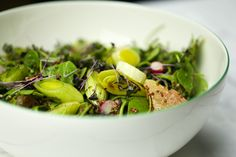 Purslane Salad with Leeks, Quinoa and Beetroot