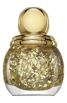 Sparkles for the upcoming holiday season. Love this gold leaf Dior top coat.