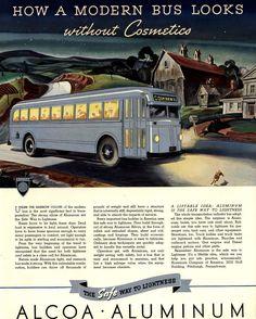 Retro Advertising, Retro Ads, Vintage Advertisements, Art Deco Posters, Vintage Posters, Under The Rainbow, Vintage Boats, Bus Travel, Bus Stop