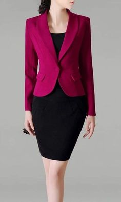 Blazer Outfits Casual, Stylish Work Outfits, Suits For Women, Jackets For Women, Clothes For Women, Corporate Women, Skirt Suit Set, Knit Blazer, Over 50 Womens Fashion