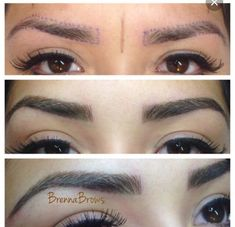 Doing this! Never have to fill in your brows! Genius!