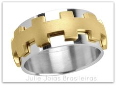 Anel em ouro amarelo e branco 750/18k (750/18k yellow and gold ring)