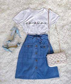 10 comfy spring/summer outfits that are stylishly cool Girls Fashion Clothes, Teen Fashion Outfits, Cute Fashion, Outfits For Teens, Summer Outfits, Fashion Dresses, Moda Fashion, Fashion Fashion, Cute Casual Outfits