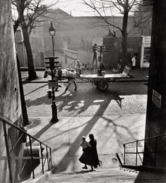 Avenue Simon Bolivar in the 19th Arrondissement of Paris, by Willy Ronis (1950)