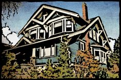 Bungalow Block Prints of your house!  This is so cool!